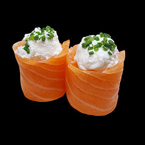 Tulipe saumon chèvre ciboulette