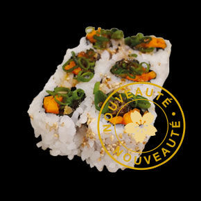 Californias Peau de saumon grillé carotte cébette 
